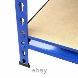 Unité De Rayonnage Bleu Métal (180cm X 90cm X 40cm) 5 Tier Revit