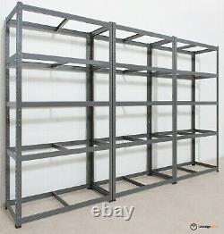 Unité De Rayonnage De Garage 5 Tier Extra Heavy-duty 180x90x45cm Stockage D'étagère De Racking