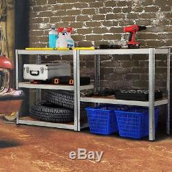 Unités De Rayonnage À Tablettes À Usage Intensif Pour Étagères De Garage Étagères Sans Plateau En Métal À 5 niveaux