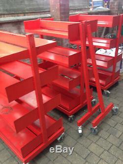 Unités Lourdes Rayonnage En Acier Duty Industrial Chariot À Roulettes De Verrouillage (3 Baies)