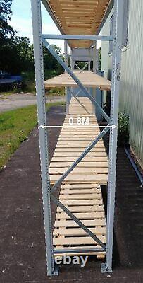 Utilisé Apex Système De Rayonnage Industriel À Longue Portée 2,4m X 2,95m X 0,6m