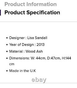 Véritable Ercol Étagères Étagères Unité Display Cabinet Wood Ash Colour Oak