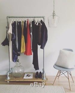 Vêtements De Style Industriel Rail Avec Plateau / Armoire / Chaussures Stockage / Manteau Rail