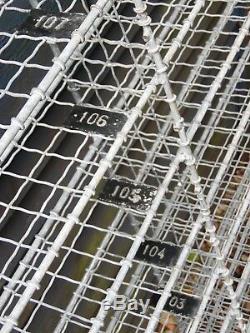 Vintage Grand Style Industriel Mur De Fil Métallique D'étagère Rack Unité Compartments