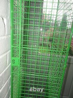 Vintage Industrial Wire Metal Locker Armoire De Rangement Armoire Armoire Rétro