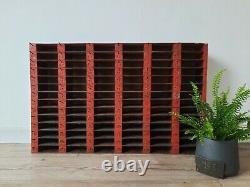 Vintage Rouge Mur De Garage Industriel Racking Étagères Étagères Sauver Pigeon Trou