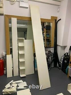 White Twin Slot Shelving Uk System Wall Upright Bracket Support Réglable Shelf