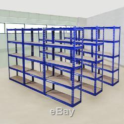 Wido 9 Pack Large Étagère Industrielle Pour Entrepôt En Métal Lourd 5 Niveaux